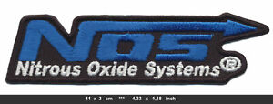 NOS Patch Embroidered Sew Iron Cars Sportscar Racing Nitrous Oxide Systems v1