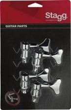 4 Mécaniques pour Guitare BASSE , Nickel CHROME