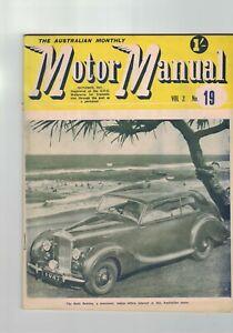 Australian Monthly Motor Manual 1947 Rolls Bentley
