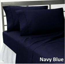 Luxuries 1-Piece TwinXL Size Bed (Top)Flat Sheet Blue Solid 600 TC 100%Cotton