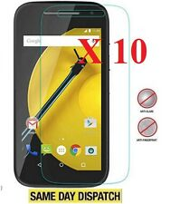 10 X Motorola Moto 4G 2015 2 Gen E Anti-Reflejos Mate protectores de pantalla cubierta de película