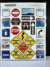 Creative Imaginations #8816 Road trip signs stickers pkg 6