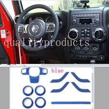 Steering Wheel Trim Interior Car Door Handle Cover For Jeep Wrangler JK 4 door