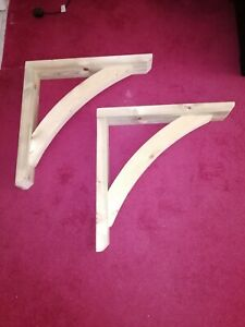 2 x Curved Gallows Brackets - In Hand - Large Heavy Duty - Wooden Timber Porch