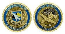 "FORT WAYNE BLACK SNAKES A-10C WARTHOG 122ND FIGHTER WING 1.75"" CHALLENGE COIN"