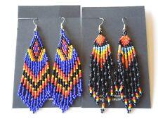 Beaded Dangle Earrings Two Pair