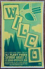 WILCO & FLEET FOXES 2008 Gig POSTER Bend Oregon Concert