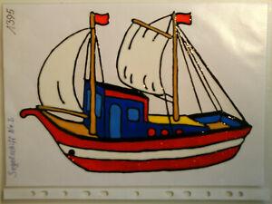 Window Color Fensterbilder Deko Maritimes Segelschiff