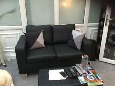 Leather Solid Pattern Traditional Double Sofas