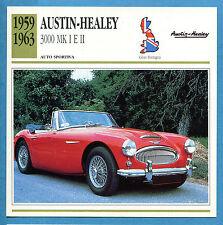 SCHEDA TECNICA AUTO DA COLLEZIONE - AUSTIN-HEALEY 3000 MK I E II 1959-1963