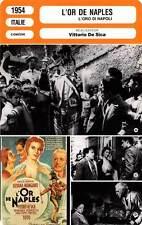 FICHE CINEMA : L'OR DE NAPLES - Mangano,Loren,De Sica 1954 Gold of Naples