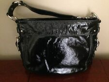 Coach Zoe Top Handle Bag Black Patent Leather Handbag