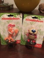 NIP Ren And Stimpy -  Character Figures Toys Collectible Figurines - Nickelodeon