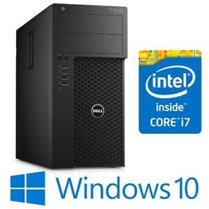 Dell Precision T1700 Tower Computer PC Intel i7 4770 16G 240G SSD Win 10 Pro
