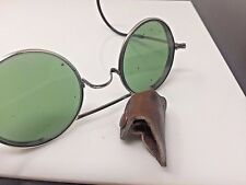 Authentic 1940s STEAMPUNK WELSH sunglasses ORIGINAL round green shades