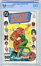 Justice League of America  #242  CBCS  9.6   NM+   White pages 9/85  Amazo App.