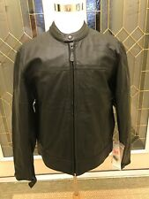 Leather Jacket Mens M / 44 River Road Laredo Black New with Tags