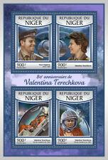 Níger 2017 estampillada sin montar o nunca montada Valentina Tereshkova Bday Yuri Gagarin 80th 4 V m/s Sellos De Espacio