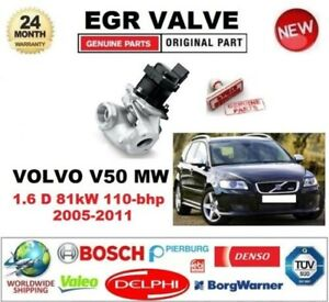 FOR VOLVO V50 MW 1.6 D 81kW 110-bhp 2005-2011 EGR VALVE 5PIN with GASKETS/SEALS