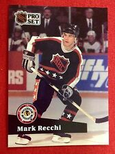 91/92 Mark Recchi Pittsburgh Penguins NHL Hockey All-Star Card Stanley Cup Champ