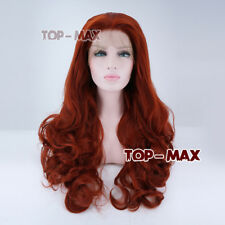 Heat Resistant 24 Inches Orange Red Anime Cosplay Wig Full Hair Lace Front Wig