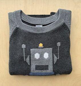 Baby Gap Robot Jumper 5 Years 100% Cotton