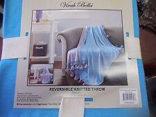 Virah Bella  Reversible Knitted Throw Blanket