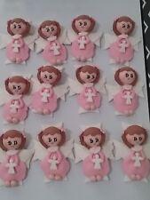 12 pcs Angel Girl pink &  White Baptism First Communion handmade Favor Migajón