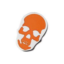 Lucien Pellat-Finet Silver Neon Orange Skull Singular Earring Stud