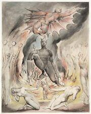 William Blake la mañana de Cristo'S Natividad Milton 1815 Satanás 7x5 pulgadas impresión