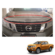 Bug Guard Shield Hood Small Silver for Nissan NP300 Navara Frontier 2015 16 17