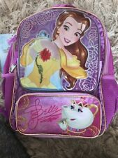 Disney Store Beauty And The Beast Belle 3D School Bag Backpack BNWT Chip