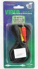 Calrad 6 foot Camcorder A/V Cable for Sony One Plug Split to 2 Males NEW