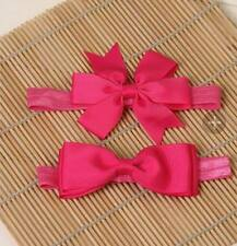 2pcs/set Hair Elastic Bands Ribbon Bows kids baby girls headwear accessories