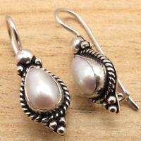 WHITE SEA PEARL Earrings ! 925 Silver Plated Bulk PACKS of 10 50 100 PAIRS LOT