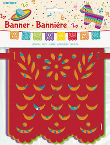 Bright Colourful Mexican Fiesta Party Bunting Mexican Party Flag Banner Garland