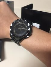 Karl Lagerfeld KL1001 Analog Watch Limited Edition 2013 Blacked Out Original Box