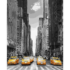 Modern City Avenue Canvas Paint By Numbers Kit Oil Painting Kit NEW Gift