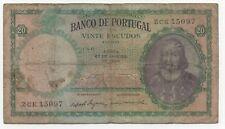PORTUGAL 20 ESCUDOS 1959 PICK 153 LOOK SCANS