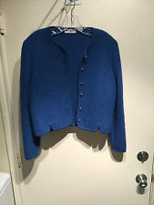 Vintage Carroll Reed Boiled Wool Jacket Blue Size 10