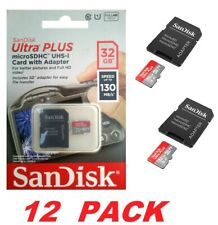 SanDisk Ultra PLUS 32GB microSDHC UHS-I Memory Card with Adapter 130 MB/s (12PK)