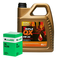 Triple QX Fully Synthetic Plus Ford 5W30 Engine Oil 5L+Oil Filter S-MAX 1.8 TDCI