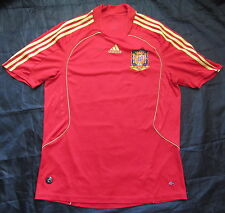 SPAIN ESPANA  Euro 2008 Home Shirt jersey ADIDAS 2007-2009 /adult SIZE L
