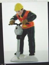 "VINTAGE SNOW VILLAGE ""MEN AT WORK"" SINGLE FIGURE  JACKHAMMER MAN  # 54894"