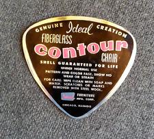 Mid Century Ideal Furniture Contour Fiberglass Chair Eames era sticker Chicago