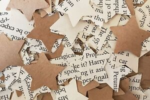 Star Rustic Chic Wedding Table Confetti  - Harry Potter / Kraft Brown Paper Mix