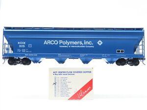 O Scale 2-Rail Weaver 1504 KCIX Arco/Polymers, Inc. 4-Bay Covered Hopper #325