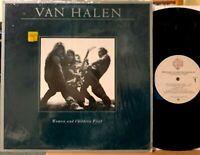 Van Halen Women and Children First Vinyl LP + Poster Warner Bros 3415 Shrink VG+