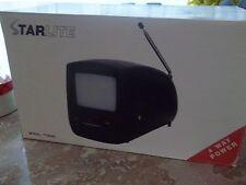 "STARLITE~PORTABLE TV #8380  BLACK & WHITE 4.5""~4 WAY POWER ~NEW IN BOX"
