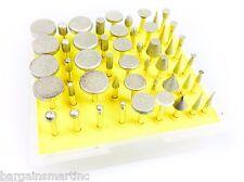 NEW 50pc 600 Grit Diamond Burr Bit Set for Rotary Tool Glass Tile Ceramic